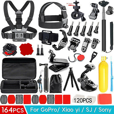 Accessories Pack Head Chest Monopod Bike Surf Mount for GoPro Hero 5 4 3+ 3 2