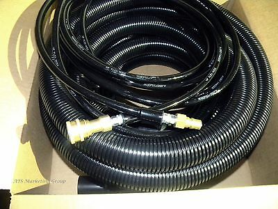 Carpet Cleaning 25ft Vacuum & Solution Hoses W/QD for wands BLK