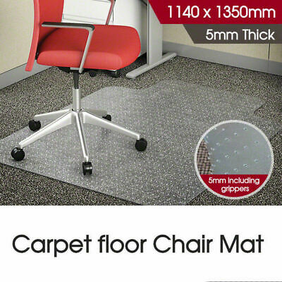AU Local New Carpet Floor Office Computer Work Chair Mat Plastic 1140 x 1350mm