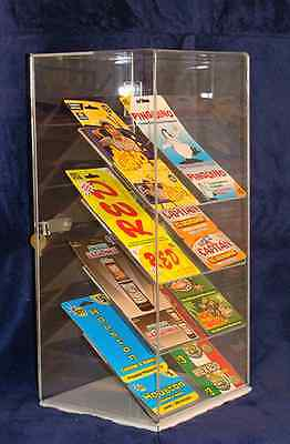 ">>> SPECIAL <<<  Acrylic Counter Top Display Case 8"" x 7"" x 16"" tall, 4 shelves"