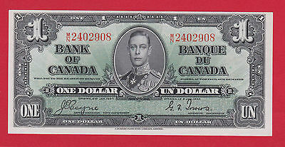 ✪ MN 2402908 Bank of Canada 1937 One 1 Dollar Note Coyne Towers Ch Unc  $69.95