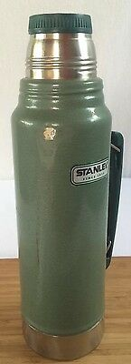 Stanley Thermos Aladdin Stainless Steel Vacuum Bottle 1.1 Quart Green w/ Handle