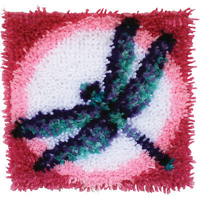 """Wonderart Latch Hook Kit 12""""X12""""-Dragon Fly"""