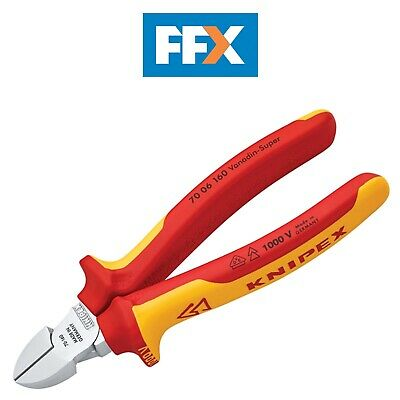 Knipex 140mm Mini Diagonal Side Cutters 1000V VDE Insulated 70 06 140