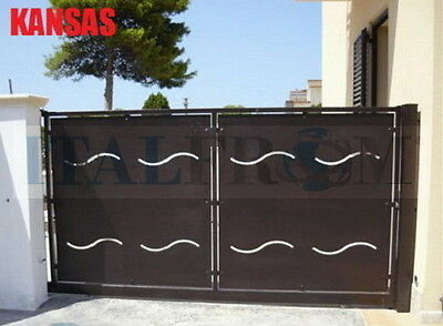 Sliding gate (Kansas) panel fencing railing galvanized wrought iron