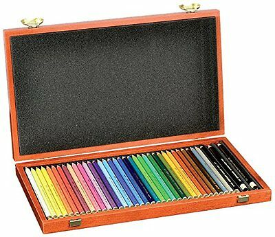 Koh-I-Noor Polycolor Set of 36 Coloured Artists Pencils in Wooden Case - NEW