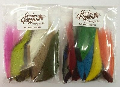 Gordon Griffiths Mixed Bucktail Pieces - 6 pieces per pack (BP)