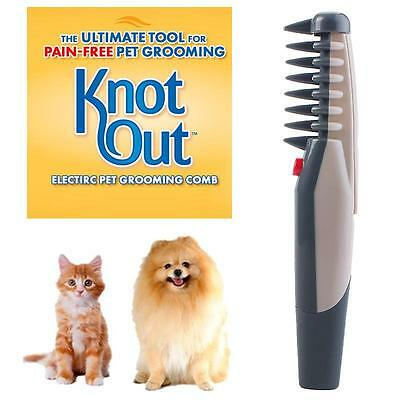 Cute Knot Out Electric Pet Grooming Comb Black Grey For Cats And Dogs Tool