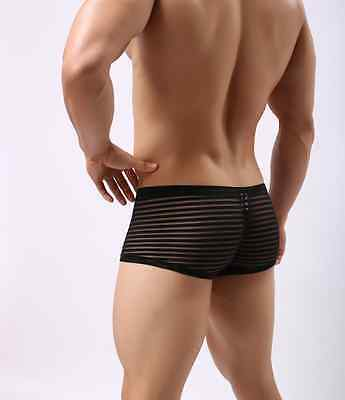 Boxer taille M noir transparent NEOFAN sheer mec sexy Ref NY05