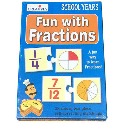 Learn FUN FRACTIONS Educational MATHS GAME TOY 28 pcs Puzzle HOMESCHOOLING