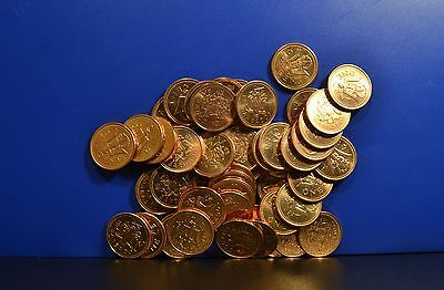 BARBADOS 1 CENT UNC ROLL x 50 COINS FOR 1 PRICE - BEST PRICE