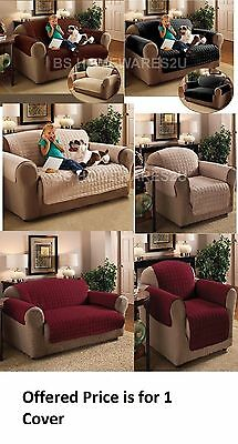 Luxury Quilted Sofa Protector Arm Chair Furniture Settee Throw Slip Cover