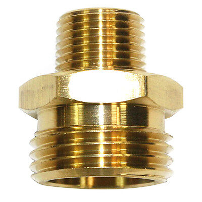 "3/4"" GHT Male x 3/8"" Male NPT Hose Fitting - FGM016"