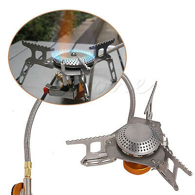 3500W Portable Foldable Outdoor Camping Picnic Gas Burner Steel Stove Mini Hot
