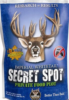 SECRET SPOT Seed 4 lb Whitetail Institute DEER & TURKEY Food Plot CLOVER Oats