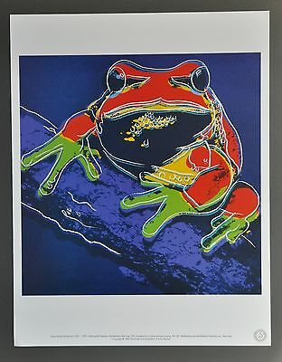 Andy Warhol Foundation Ltd. Edition Lithograph 31x40 Pine Barrens Tree Frog 1983