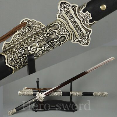 """Battle Knives Damascus Steel Asia Saber Chinese Tang Dynasty Sword Dao""""切刃唐刀"""""""