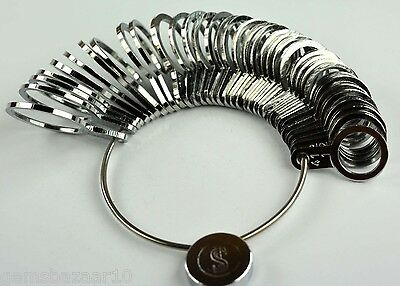 US/Europe/mm size Metal Finger Ring Sizer 36 pieces set - Jewelry Tool