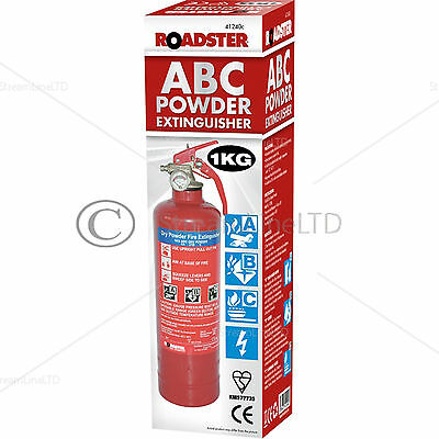 Dry Powder 1 Kg Fire Extinguisher With Steel Wall Bracket Home Ofiice Car 41240C