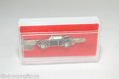 Tie Pin Badge Vw Volkswagen Beetle Kafer Black Very Near Mint Boxed