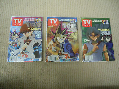 Lot Of 3 Collectable Exclusive YU-Gi-OH Cover TV Guide Feb 1-7 2003
