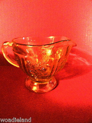 Amber Sharon Creamer Depression Glass mint
