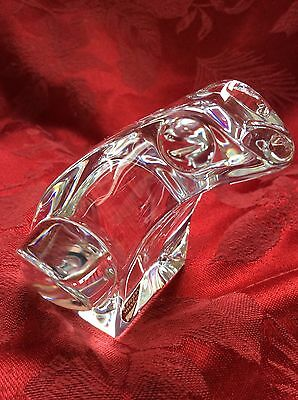 Exceptional Glass ORREFORS Clear Crystal BULL FROG Animal Collection Figurine