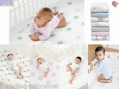 Aden + Anais Classic Baby Crib Fitted Sheet 100% Cotton Muslin Breathable Soft