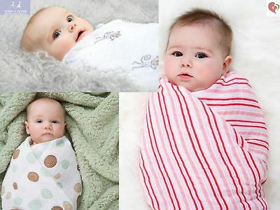 ADEN + ANAIS MUSLIN SWADDLE BLANKET CLASSIC 100% COTTON BREATHABLE MUSLIN x4