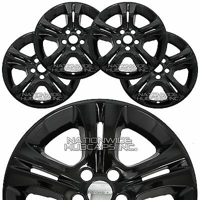 4 New 2009 2014 Dodge Challenger 18 Black Wheel Skins Hub Caps Full
