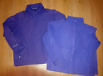 Girls Purple 3 in 1 Regatta Hydrafort Jacket age 9-10