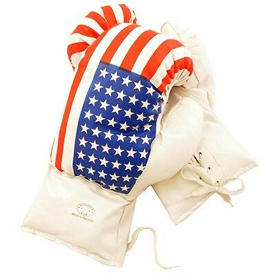 14 OZ BOXING PRACTICE TRAINING GLOVES USA MMA Sparring Punching American Flag