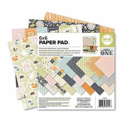 LITTLE ONE 6x6 Paper Pad (24) Sheets (12) Designs scrapbooking card making