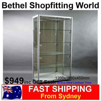Luxury Glass Display Cabinet Showcase For Jewellery Model Car Hobbies Brand New