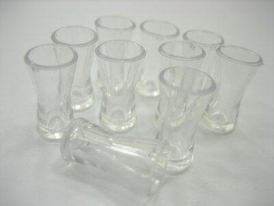 10 Acrylic Cocktail Glass Dollhouse Miniatures Accessories Supply Charms 12499