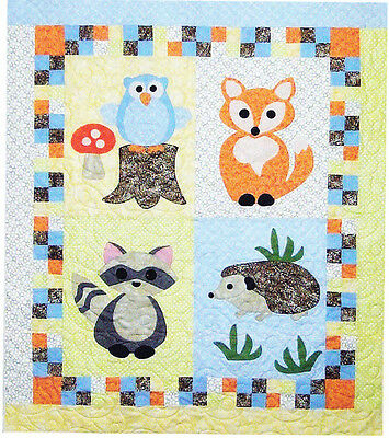 Woodland Babies - cute applique & pieced baby quilt PATTERN