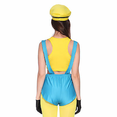Donna Travestimento Cosplay Costume Giallo Minions Despicable Me Cattivissimo Me