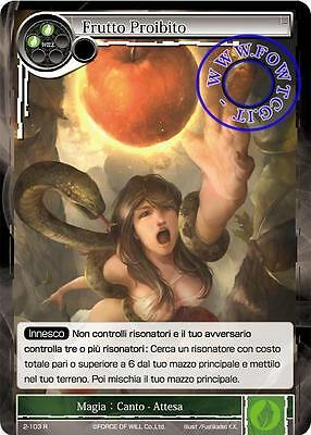 Frutto Proibito - Forbidden Fruit FoW Force of Will 2-103 R Eng/Ita
