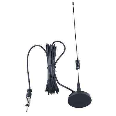 Universal Auto Car Am/Fm Radio Antenna Aerial Stereo Trunk/Fender Mount Black