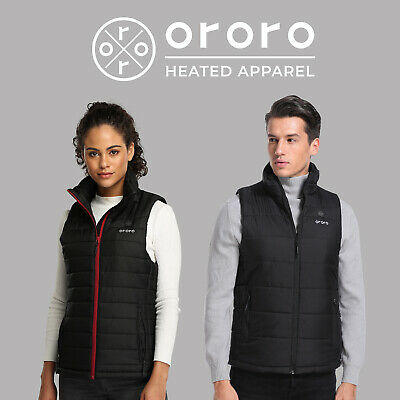 Mens Womens Electric Heated Vest Built-in Rechargeable Heating Coats Snowwear
