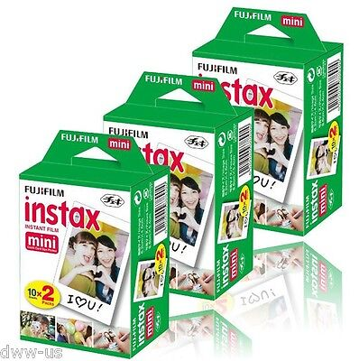 50 White Sheet Fujifilm Fuji Instax Mini Instant Film for Mini 7s 8 25 50 SP1