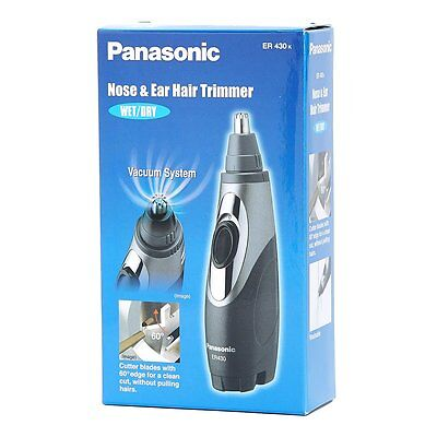 Panasonic ER430-K Vacuum Wet Dry Nose Ear Hair Washable Trimmer Clipper for Men