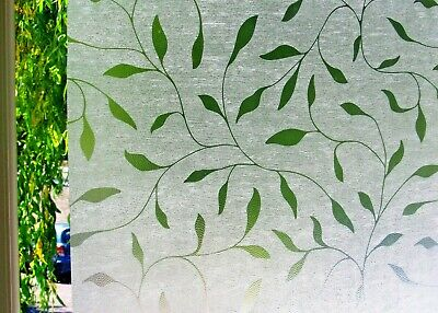 Frosted Static Window Film Stained Glass Paper Decorative Vinyl Privacy Fablon