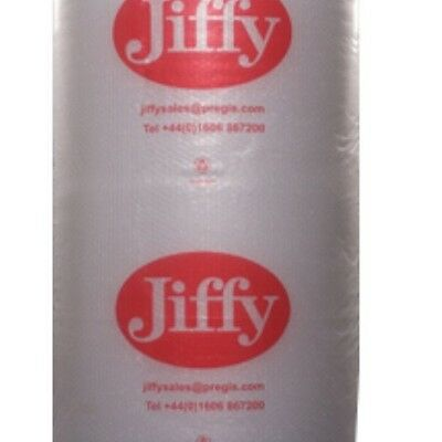 1 ROLL JIFFY BUBBLE WRAP SMALL BUBBLES 750 MM x 100 M + FREE 24 h DELIVERY