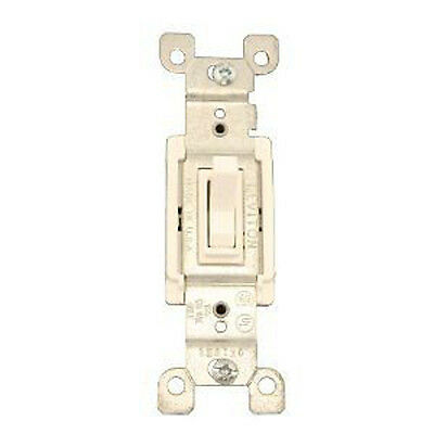 Leviton 1453-2W 15 Amp, 120 Volt, Toggle Framed 3-Way White AC Quiet Switch
