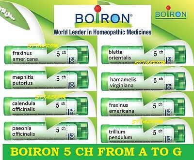 Boiron 5 Ch From A To G Homeopathic Many Remedies Listed