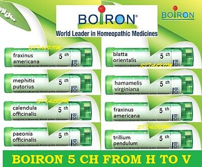 Boiron 5 Ch From H To V Homeopathic Many Remedies Listed
