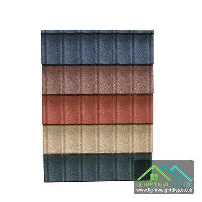 Granulated Lightweight Plastic Roof Tiles Sheets Conservatory Roof Garage Shed