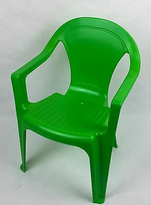 x2 KIDS CHILDREN'S GREEN/ RED PLASTIC CHAIR'S BOYS GIRLS *ASSORTED COLOURS*