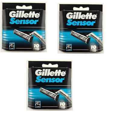 Gillette Sensor Razor Blades - 30 Cartridges
